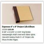 Project Life 6x8 Album