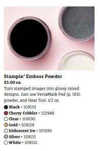 White Embossing Powder